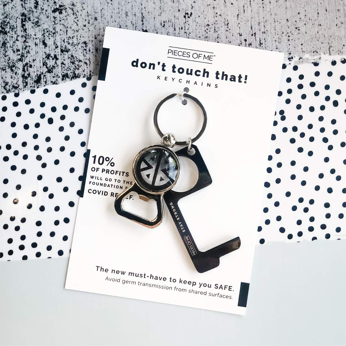 Don't Touch That Keychain - Black