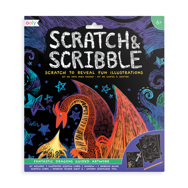Fantastic Dragons Scratch & Scribble Art Kit