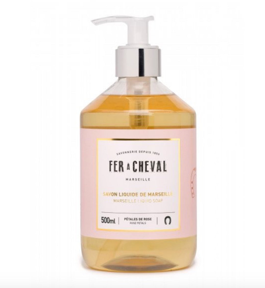 Fer A Cheval Liquid Soap - Rose Petals