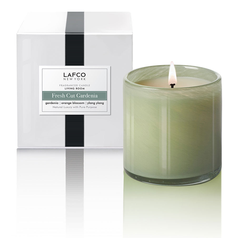 Lafco Room Candle - Living Room (Fresh Cut Gardenia)
