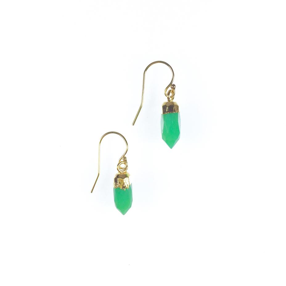 Ginger Pointer Chrysoprase Earrings