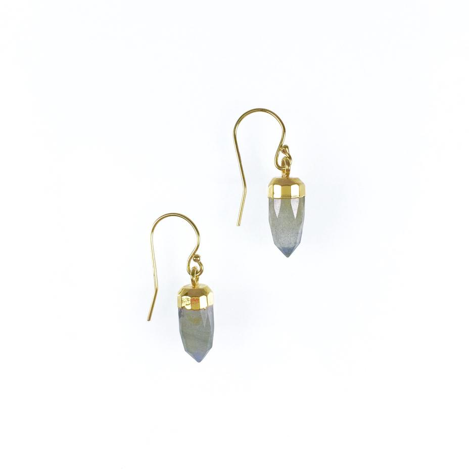 Ginger Pointer Labradorite Earrings