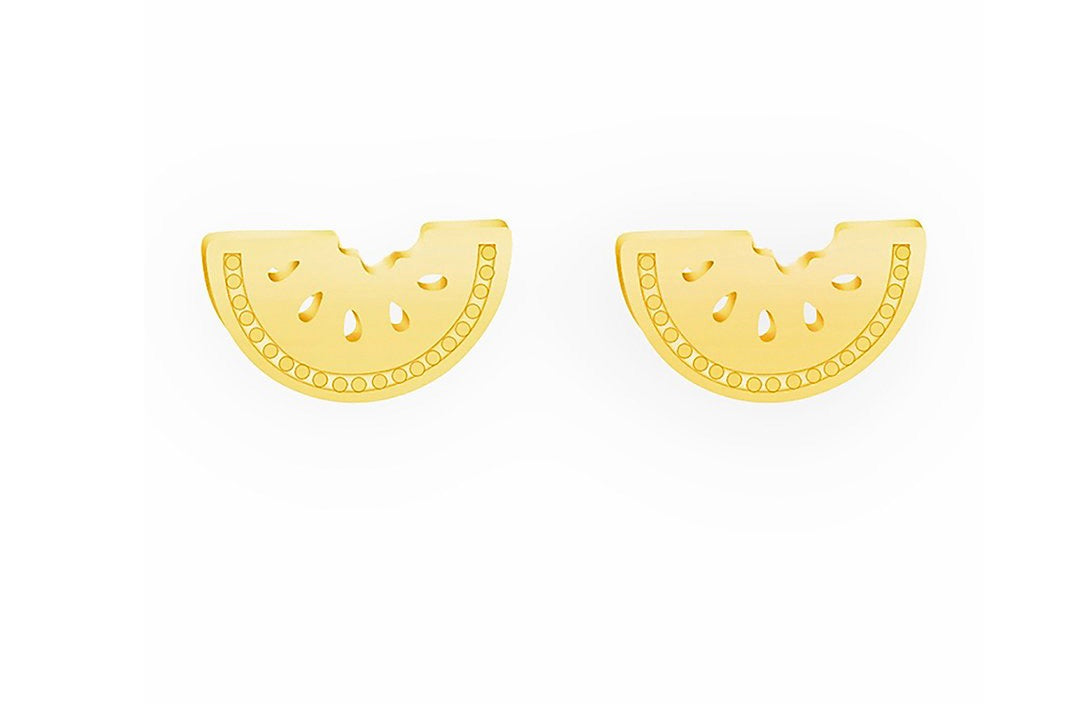 Girls' Gold Plated Watermelon Earrings