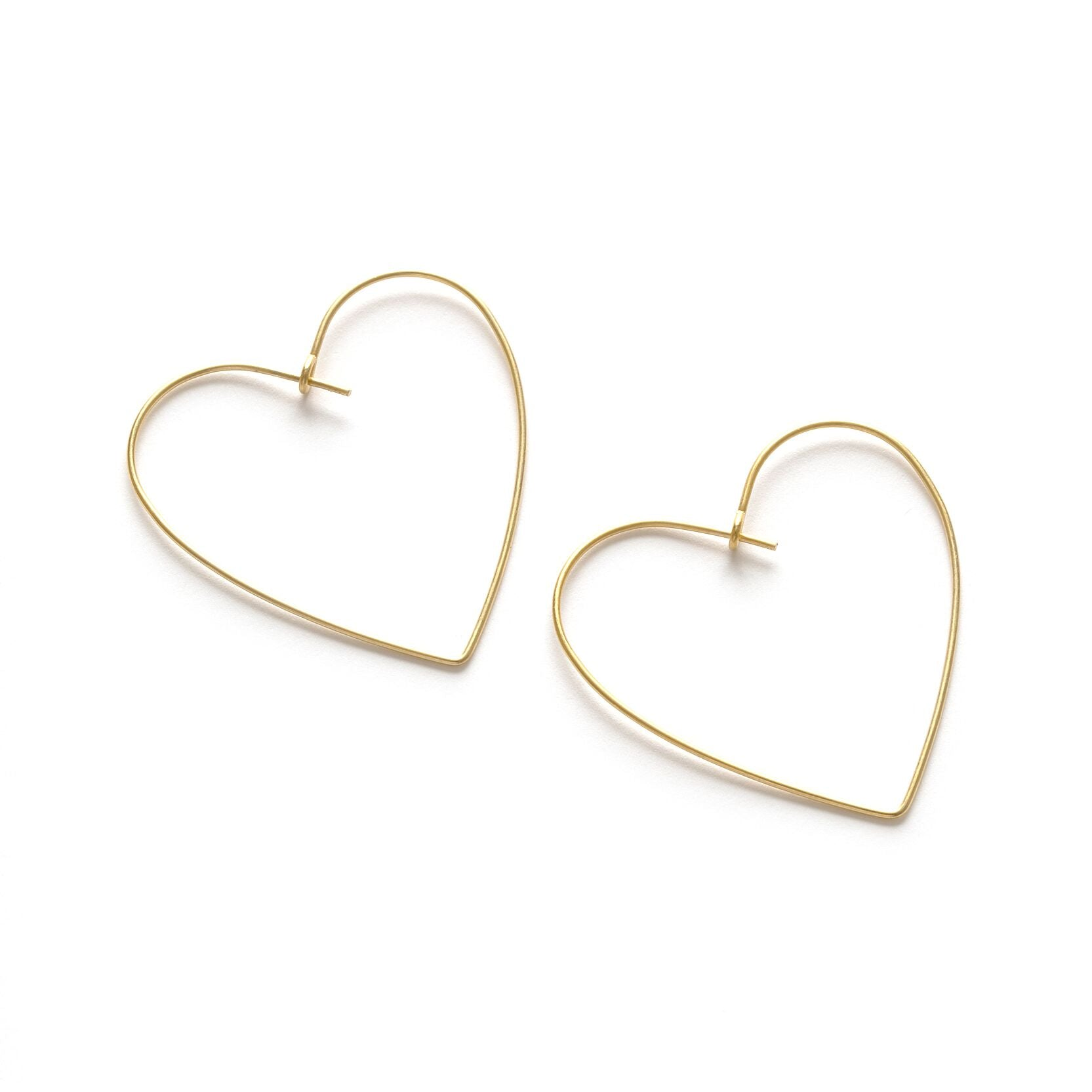 Amano Studio Heart Hoops Gold