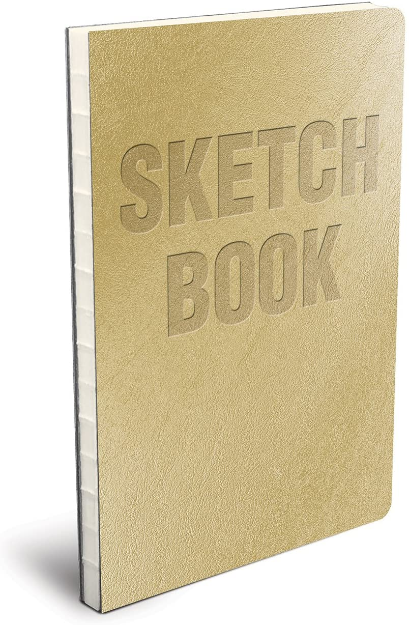 Lay Flat Metallic Gold Sketchbook