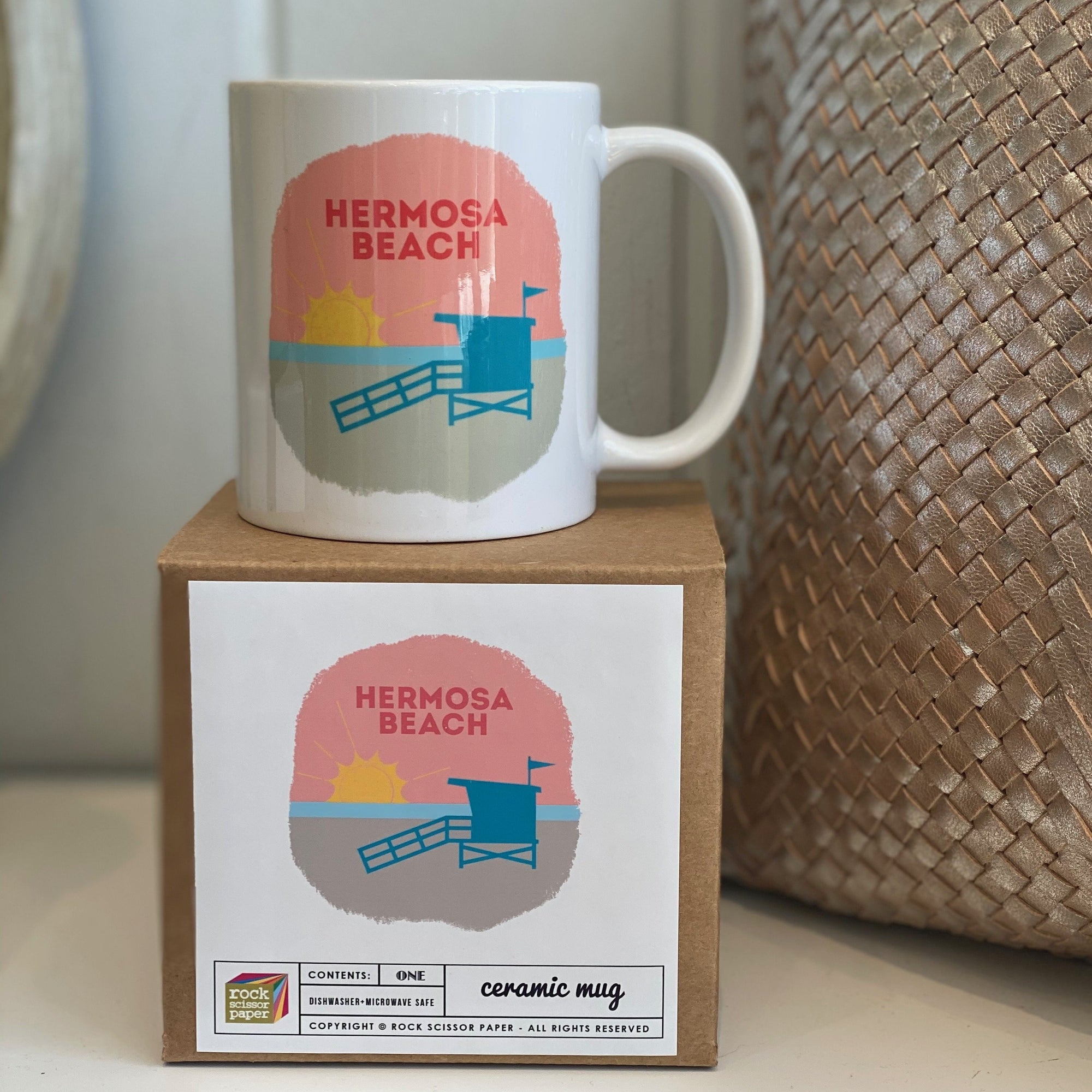 Hermosa Beach Lifeguard Shack Mug
