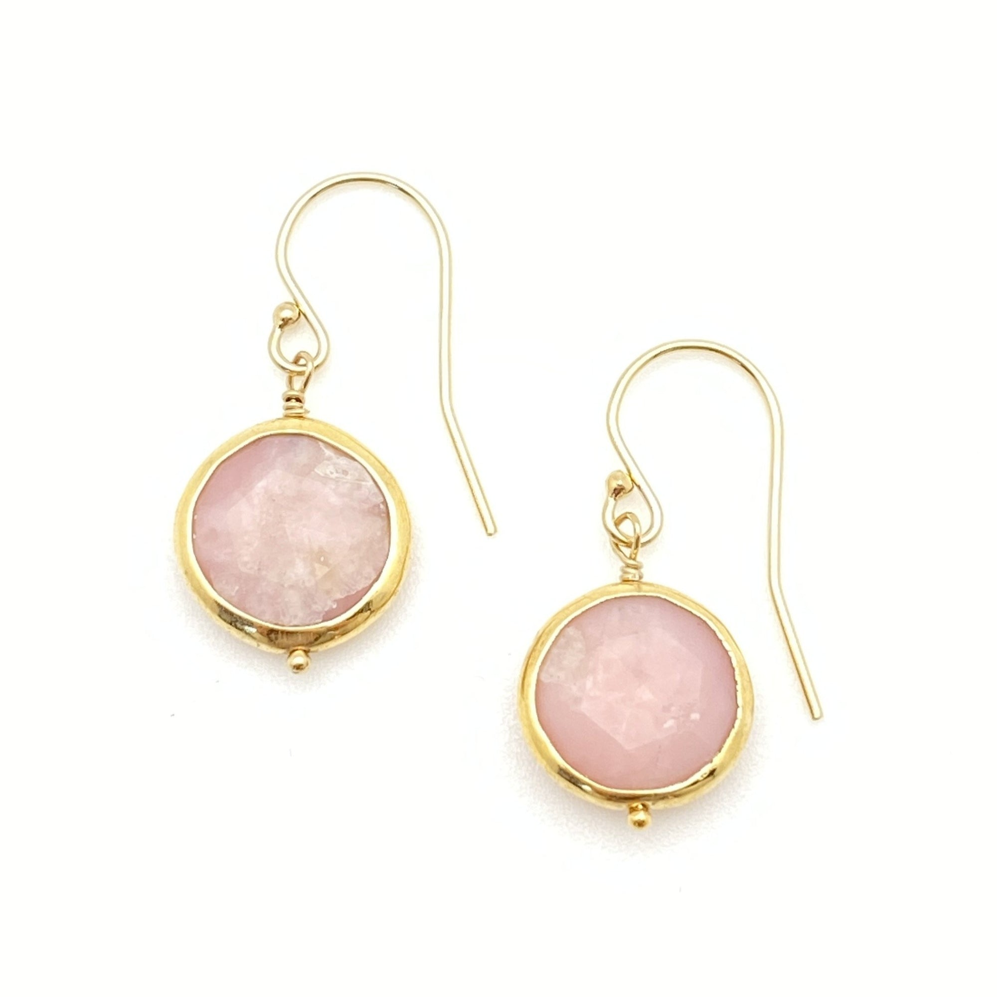 Kristen Earrings - Pink Opal