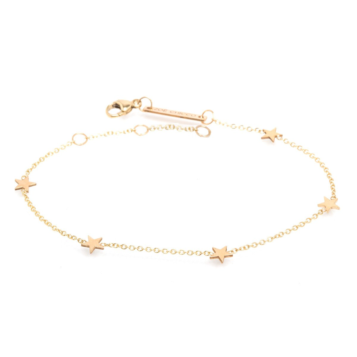 Zoe Chicco 14k itty bitty five star bracelet