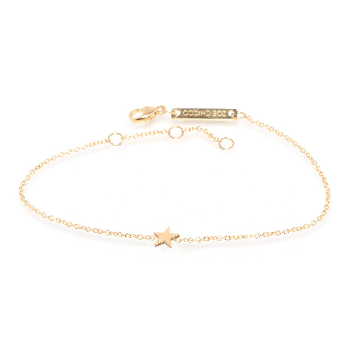 Zoe Chicco 14k Itty Bitty Star Bracelet