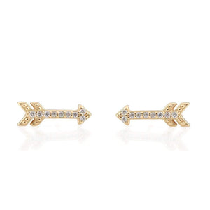 Kris Nations Arrow Pave Stud Earrings