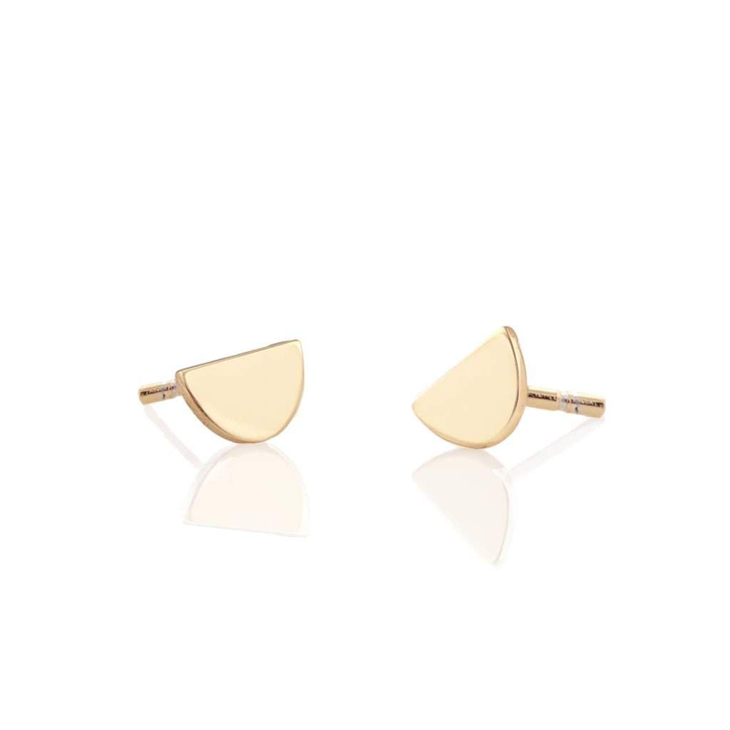 Kris Nations Half Moon Stud Earrings