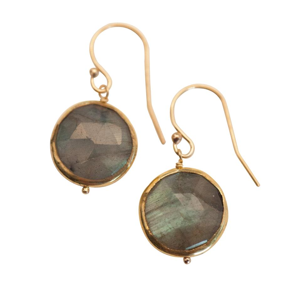 Kristen Earrings - Labradorite