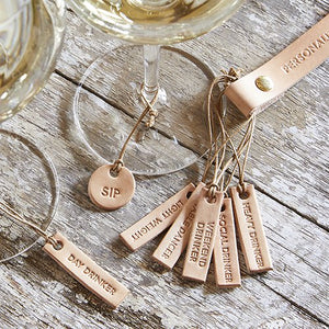 Leather Wine Charms - Personality Set