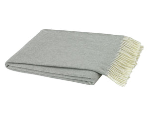 Light Grey Italian Herringbone Throw