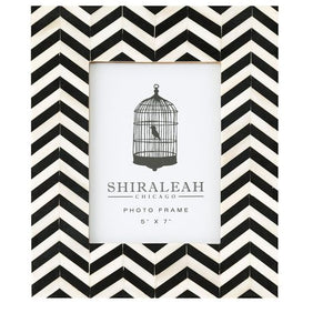 "Loft 5"" x 7"" Chevron Inlay Frame"
