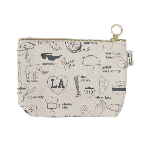 Los Angeles Cosmetics Bag - White