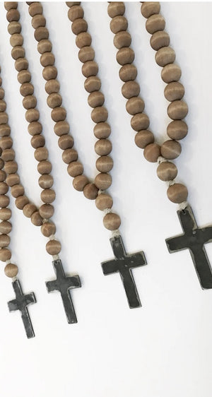 Love Beads - Brown Cross