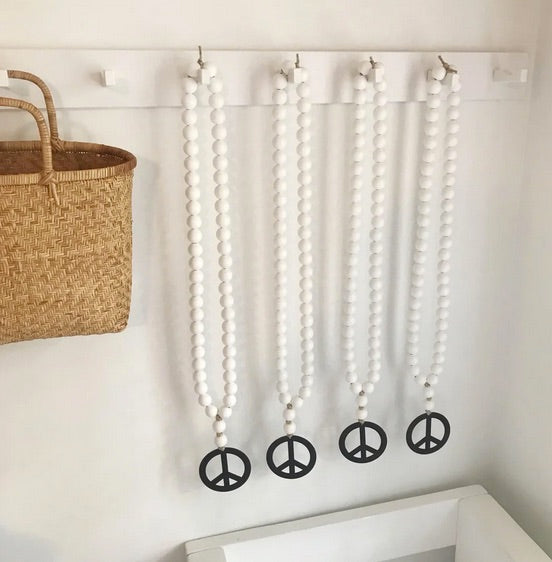 Love Beads - White Peace