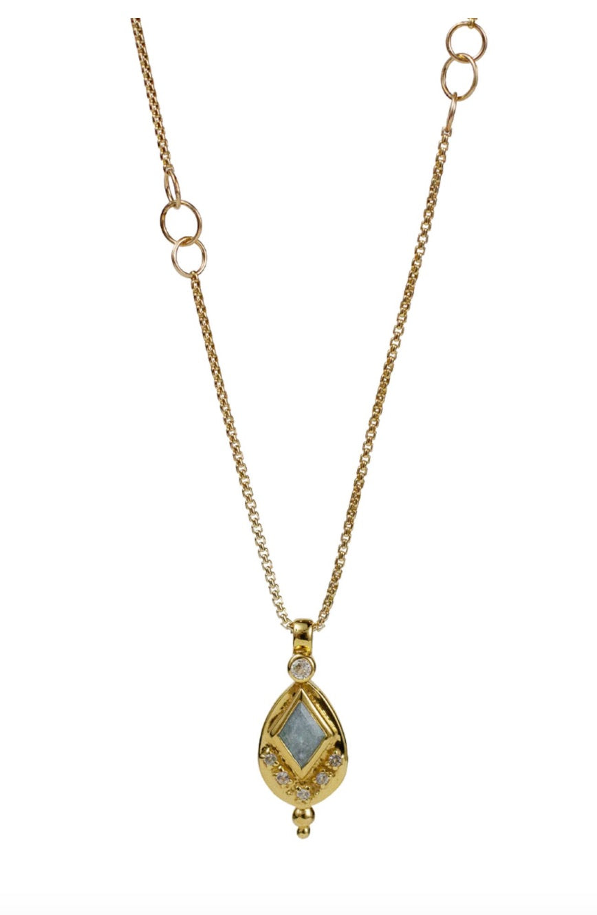 Lulu 14K Gold Fill Iris Necklace (Labradorite)