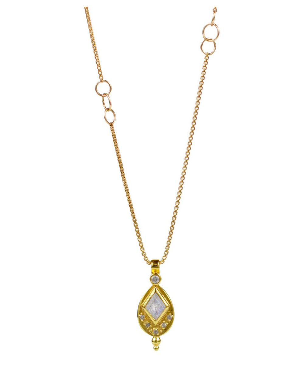 Lulu 14K Gold Fill Iris Necklace (Moonstone)