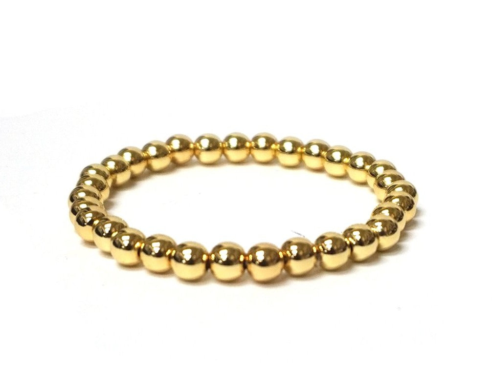 Gold plated 6mm ball bracelet