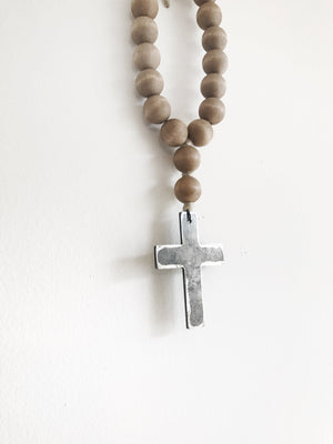 Mini Love Beads - Brown Cross
