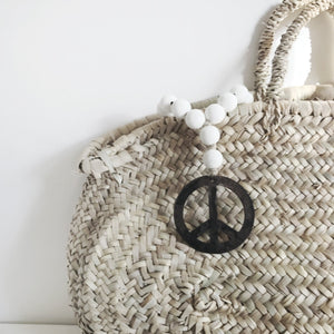 Mini Love Beads White - Peace