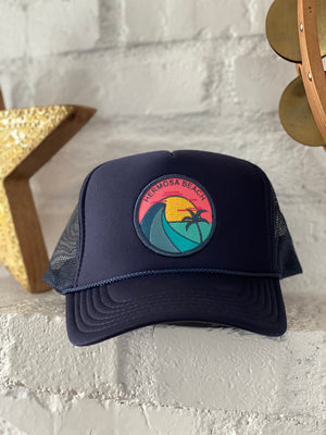 Navy Blue Hermosa Beach Hat (Wave Patch)