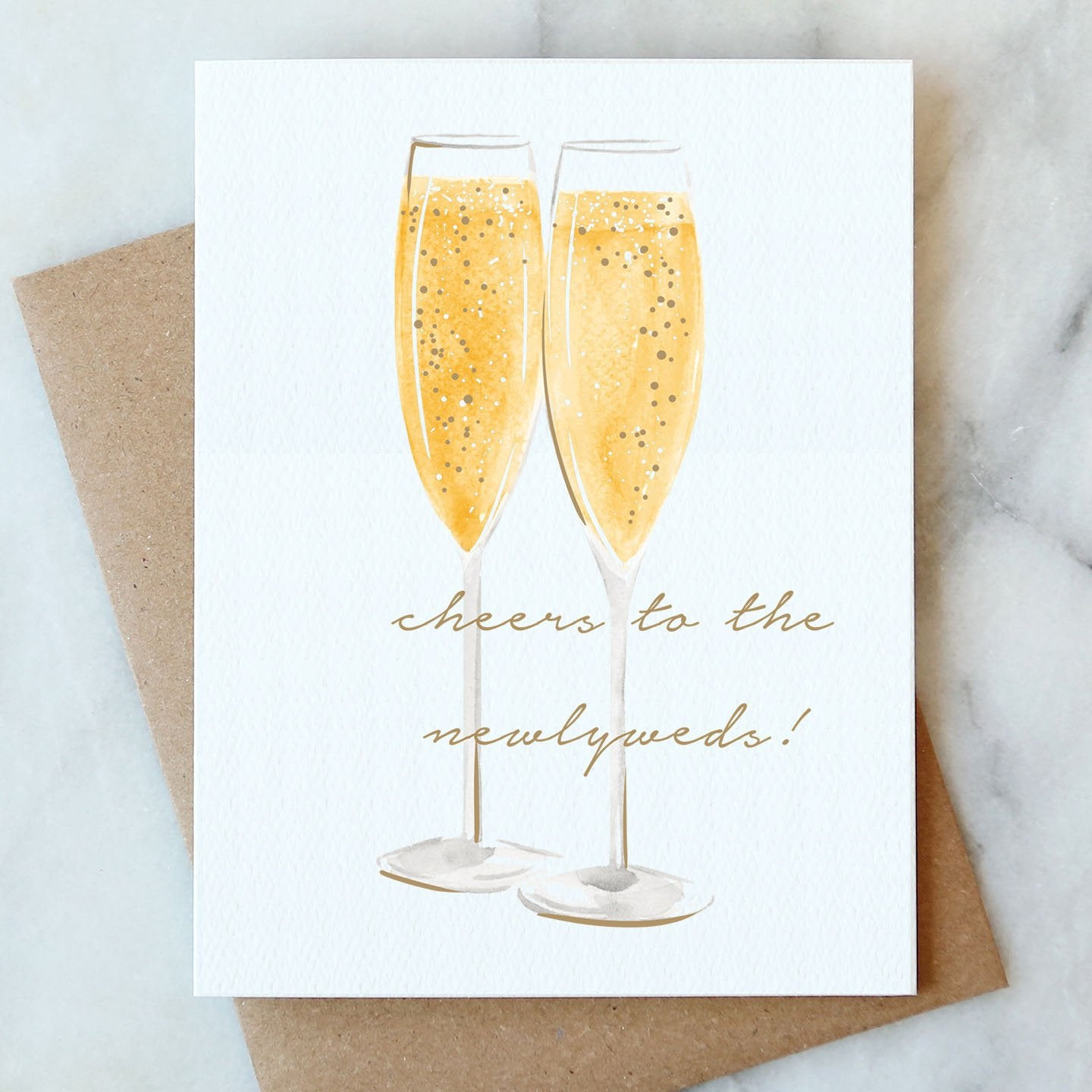 Newlyweds Cheers Card