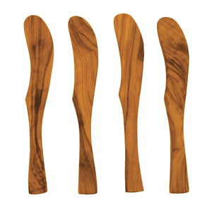 Olive Wood Spreaders, Set Of 4