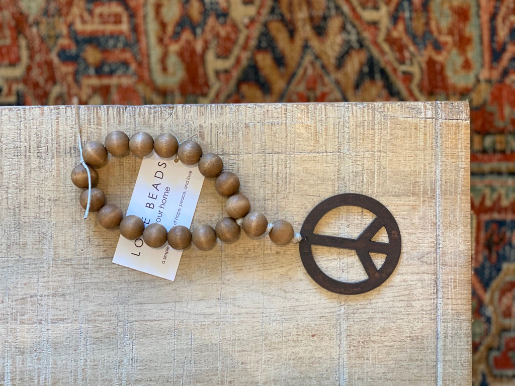 Mini Love Beads - Brown Peace
