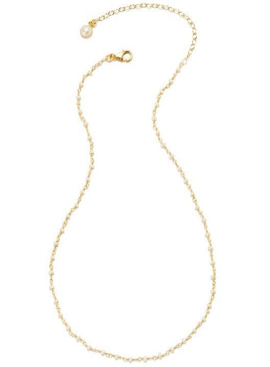 14k Vermeil Petit Faceted Pearl Gemstone Necklace