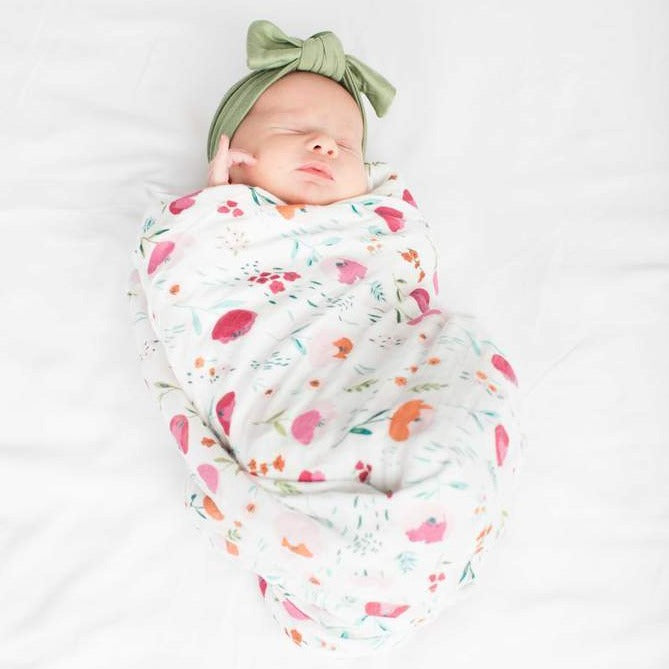 Rosey Bloom Swaddle