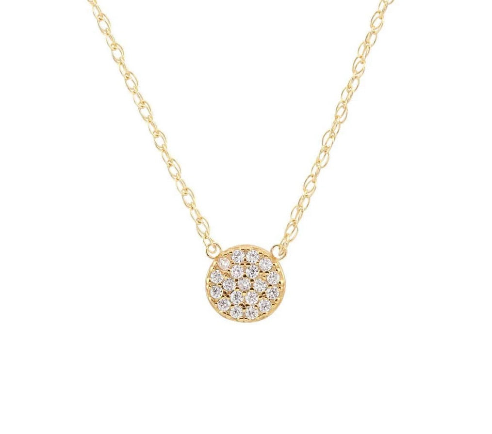 Kris Nations Round Pave Charm Gold