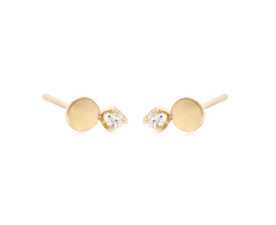 Zoe Chicco Round Prong Diamond Studs