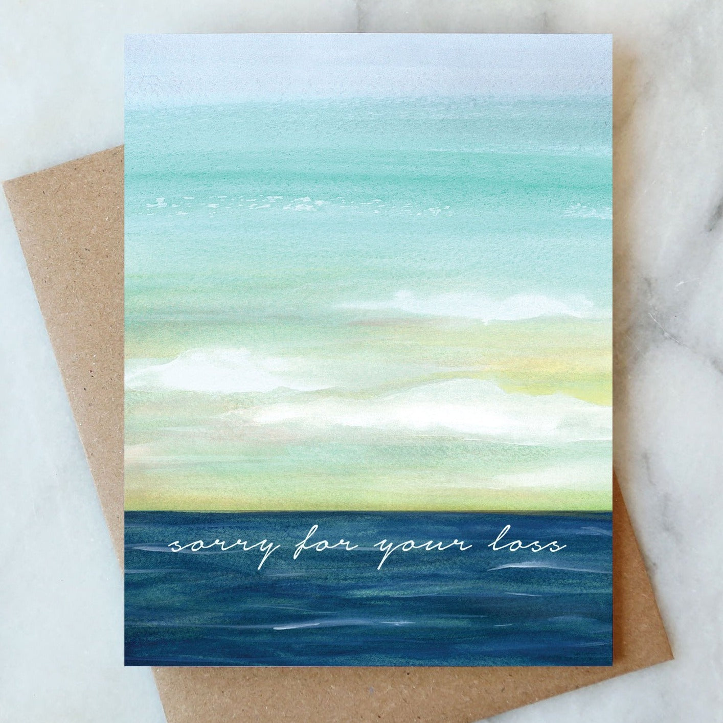 Ocean Sorry For Your Loss Card