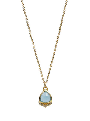 Lulu Talia Swiss Blue Topaz Necklace