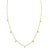 Tai Gold Simple Chain Necklace w/CZ Charms