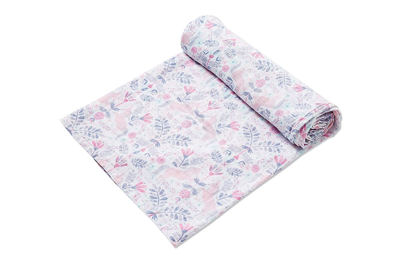 Unicorn Damask Swaddle Blanket