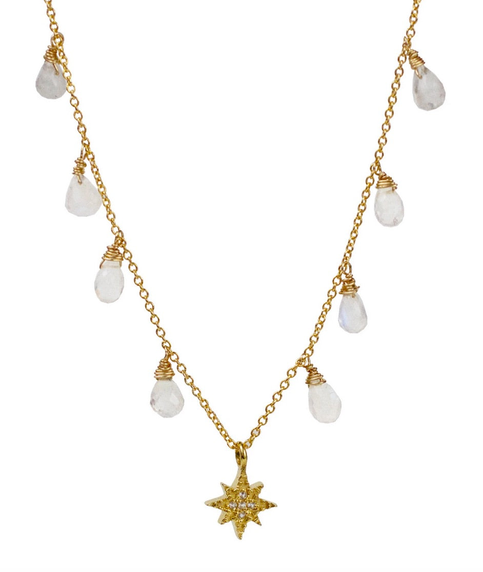 Lulu 14K Gold Fill Ursa Necklace (Moonstone)