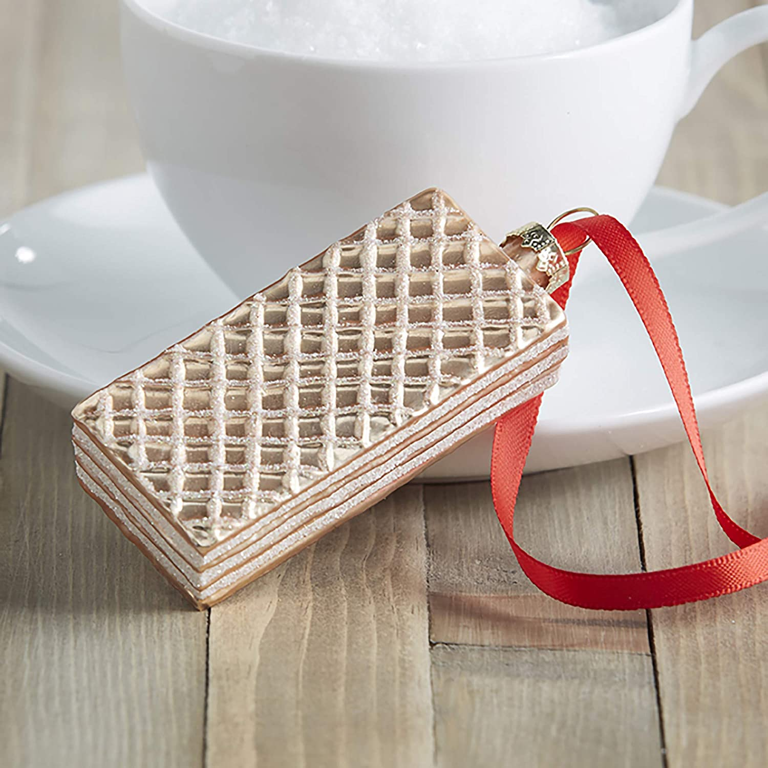 Wafer Cookie Glass Ornament