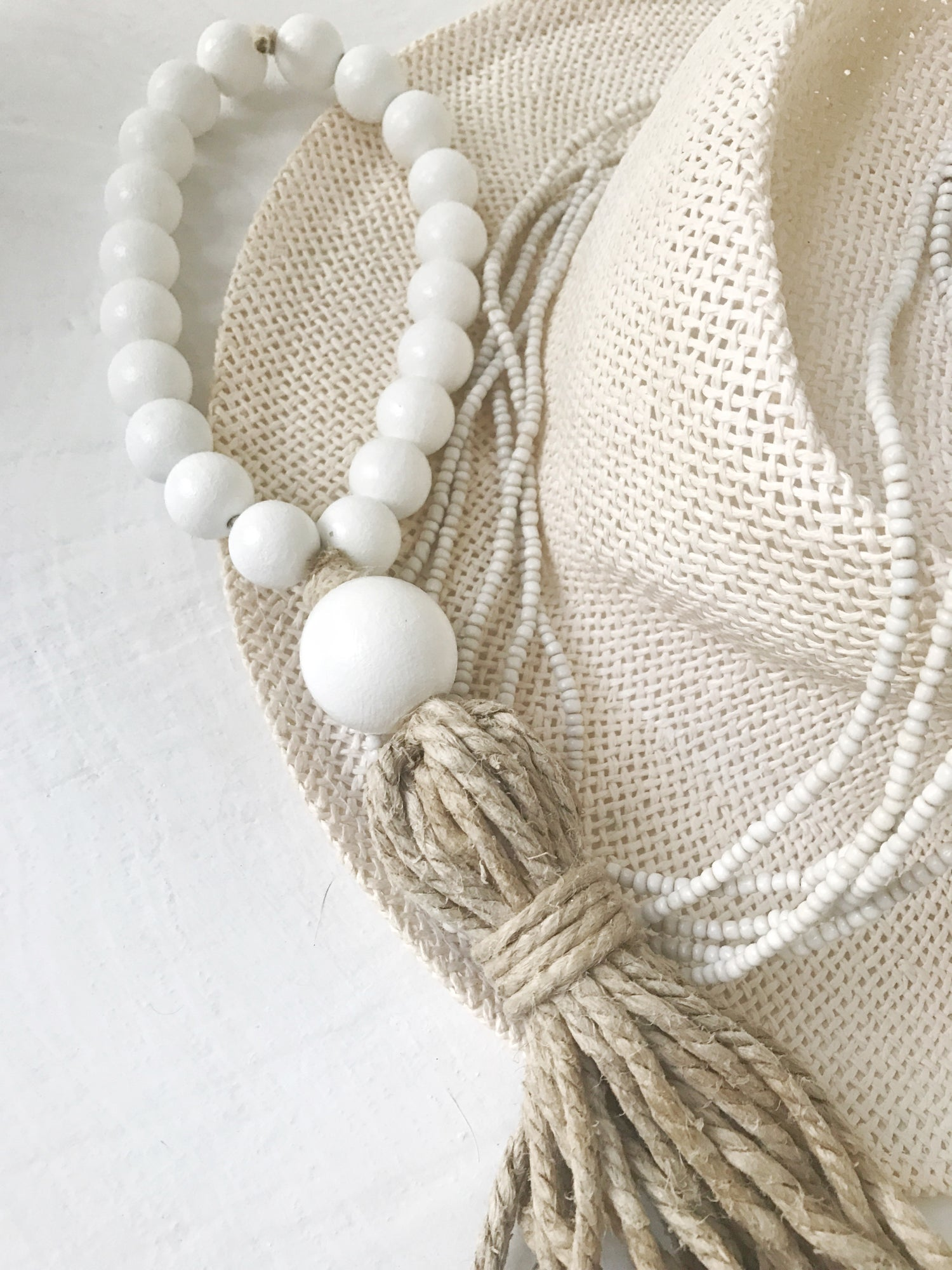 Welcome Tassel - White