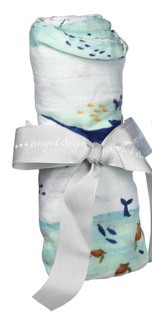 Whale Wave Swaddle