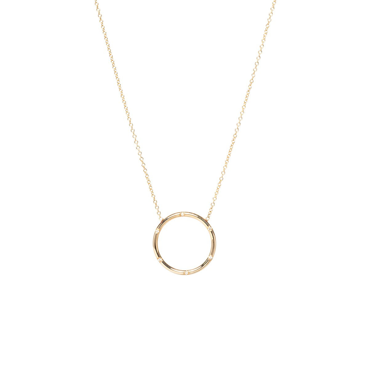 Zoe Chicco 14K Gold Scattered Diamond Necklace