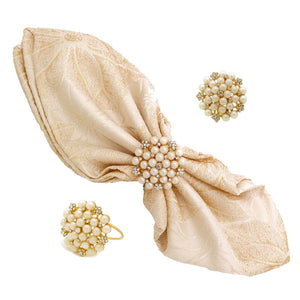 1Pearl Napkin Rings - 12pcs