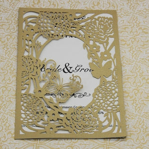 1Pcs Delicate Carved Romantic Wedding Invitations