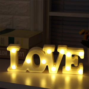 Big LOVE Alphabet Lights Romantic wedding party