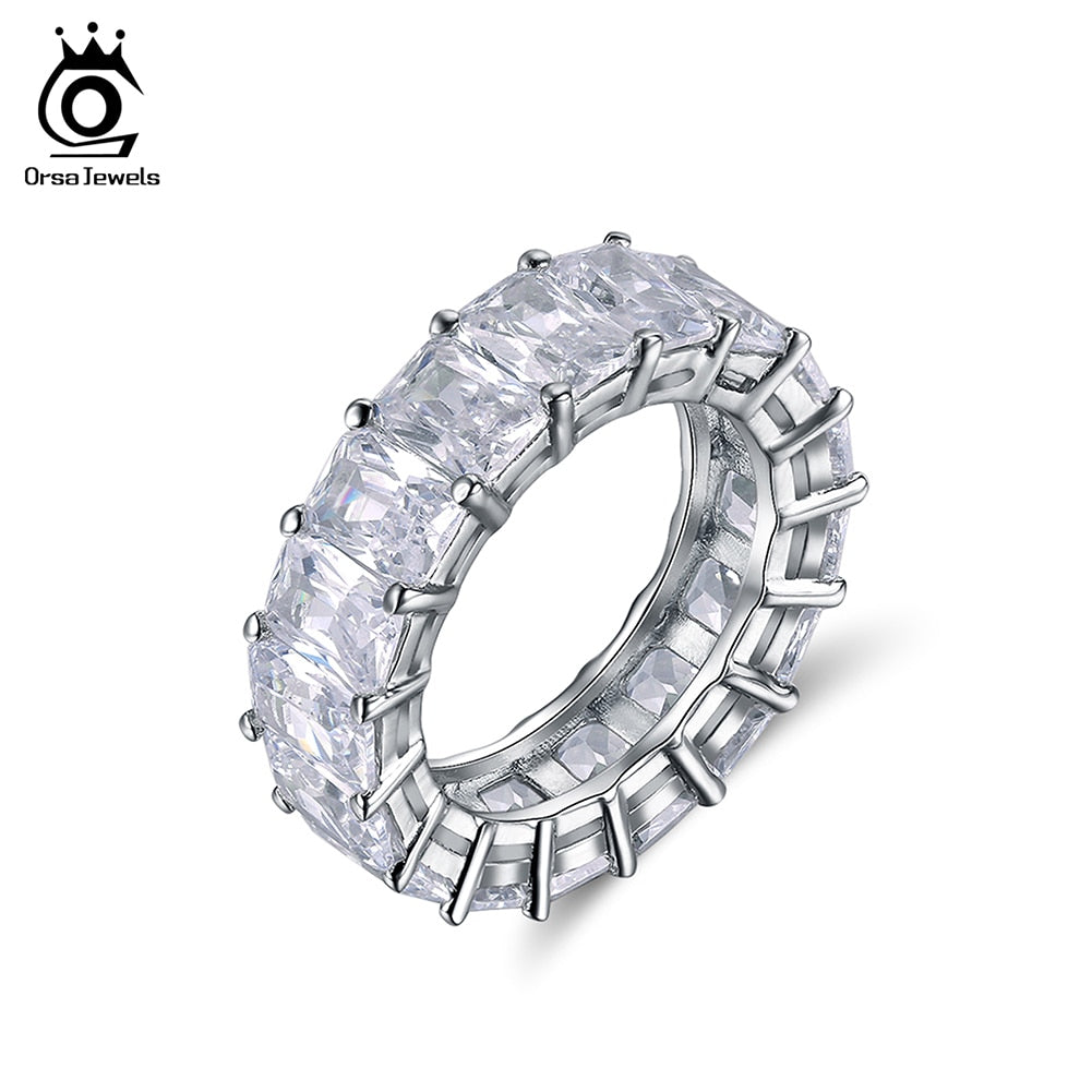 Austrian Cubic Zirconia Eternity Ring