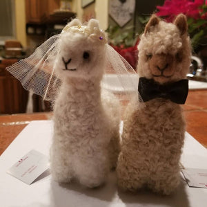 Bride and Groom Alpacadorable Hand Made Baby Alpaca