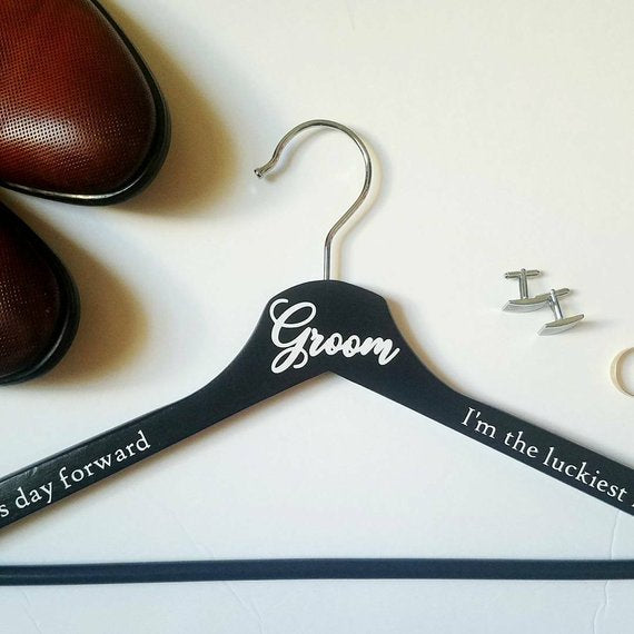 Groom's Personalized Hangers / Wedding Hangers